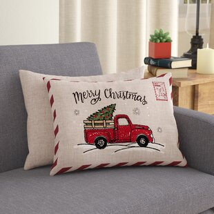 Ketan Truck Christmas Lumbar Pillow