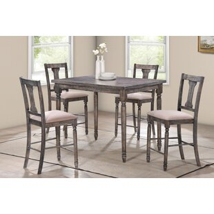 Preslar 5 Piece Counter Height Dining Set