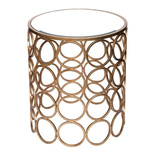 Chaplin Stacked Ring Mirrored End Table