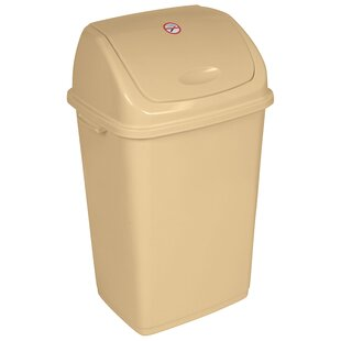 Superior Performance Plastic 13 Gallon Swing Top Trash Can