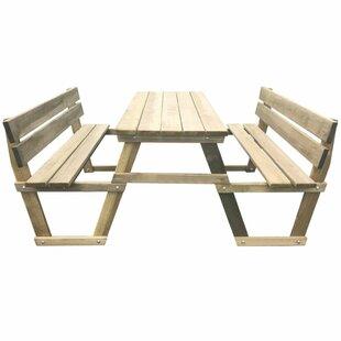 Carlson Wooden Picnic Bench Image