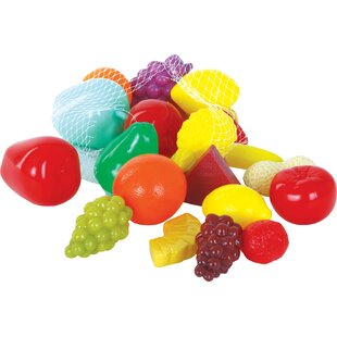 Reviews 22 Piece Fruit and Cheese Play Food Set ByGowi Toys Austria