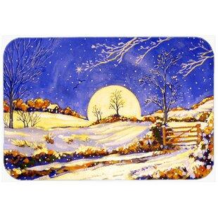 Winter Moonrise Glass Cutting Board