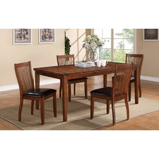 Blanco Point Extendable Solid Wood Dining Table Loon Peak