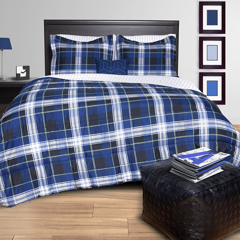 Plaid Bed in a Bag Set