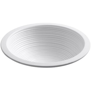 Guide to buy Twirl Ceramic Circular Undermount Bathroom Sink By Kohler