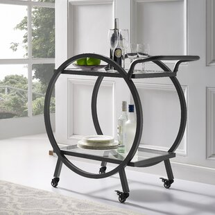 Mercury Row Ladner Round Frame Bar Cart