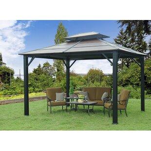 rolla 10 ft w x 12 ft d metal patio gazebo - Metal Roof Gazebo