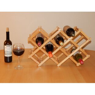 Home 8 Bottle Tabletop Wine Bottle Rack b..