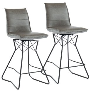 Kobbe 26 Swivel Bar Stool (Set of 2) Brayden Studio