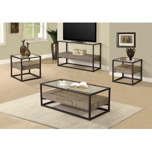 Union Rustic Standwood 3 Piece Coffee Table Set