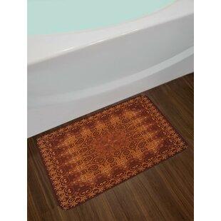 Antique Lacy Persian Arabic Pattern from Ottoman Empire Palace Carpet Art Non-Slip Plush Bath Rug