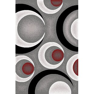 Coulombe Gray/Black Area Rug ByEbern Designs