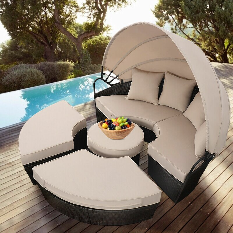 Bay Isle Home Noor Outdoor Mix Brown Rattan Patio Sofa Furniture ...