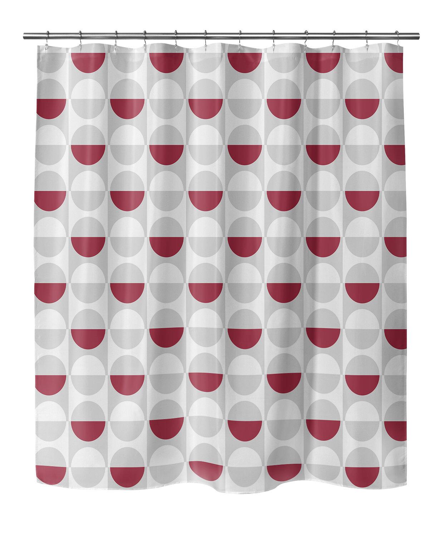 Ivy Bronx Oberle Geometric Single Shower Curtain Wayfair