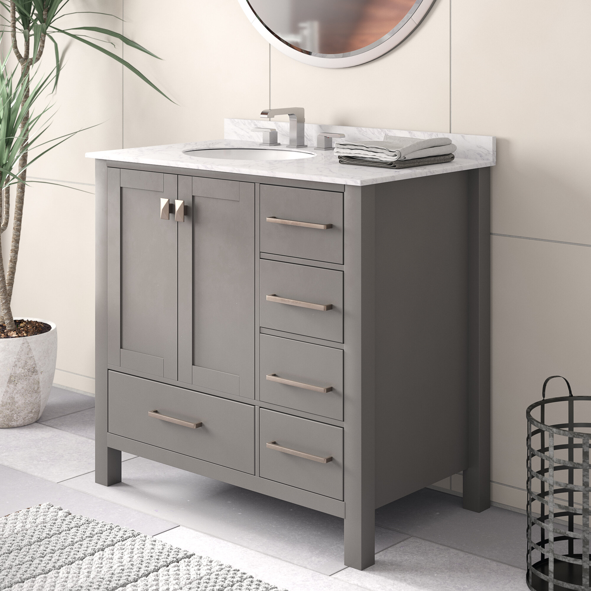 Brilliant Newtown 36 Single Bathroom Vanity Set Interior Design Ideas Grebswwsoteloinfo