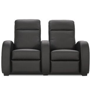 Leather Home Theater Loveseat (Row of 2)