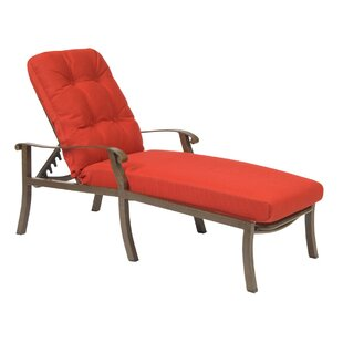 Woodard Cortland Reclining Chaise Lounge with Cushion