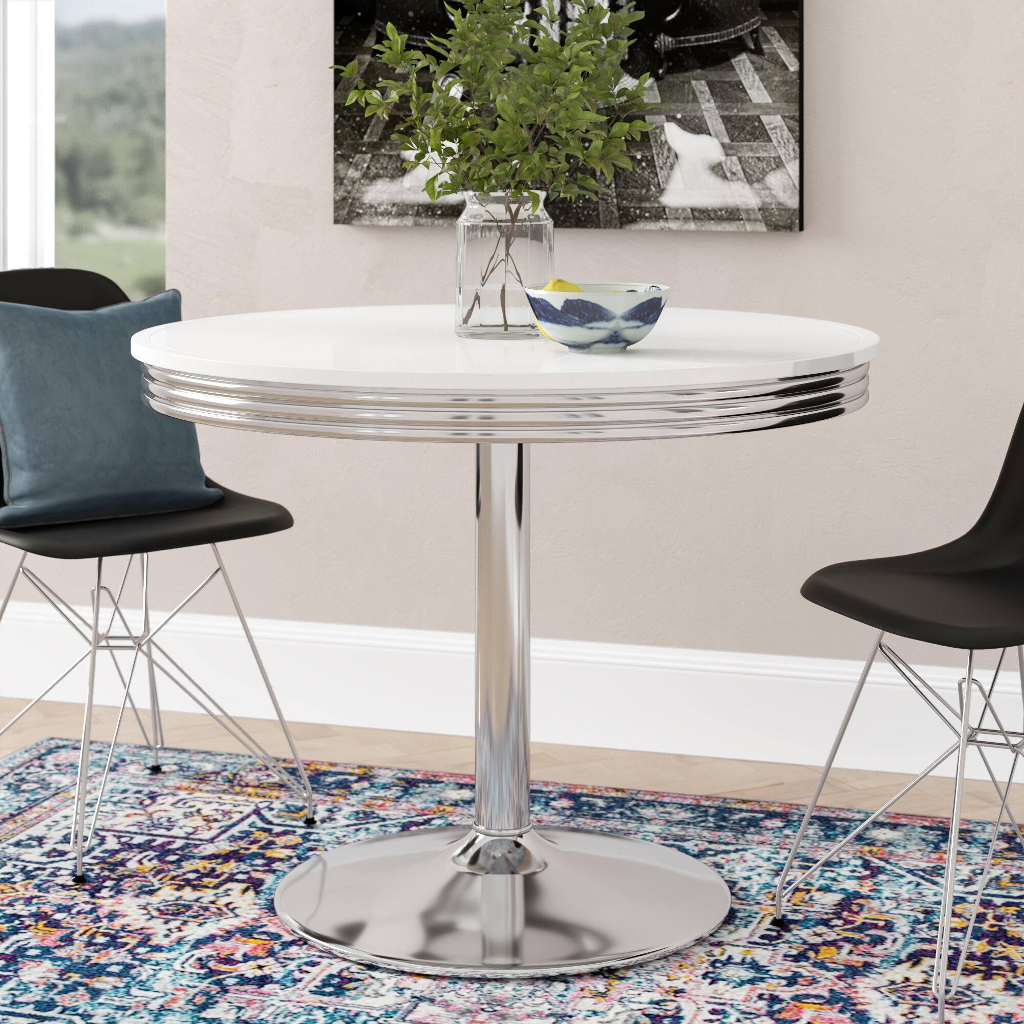 Image of: Latitude Run Sherly Retro Dining Table Reviews Wayfair