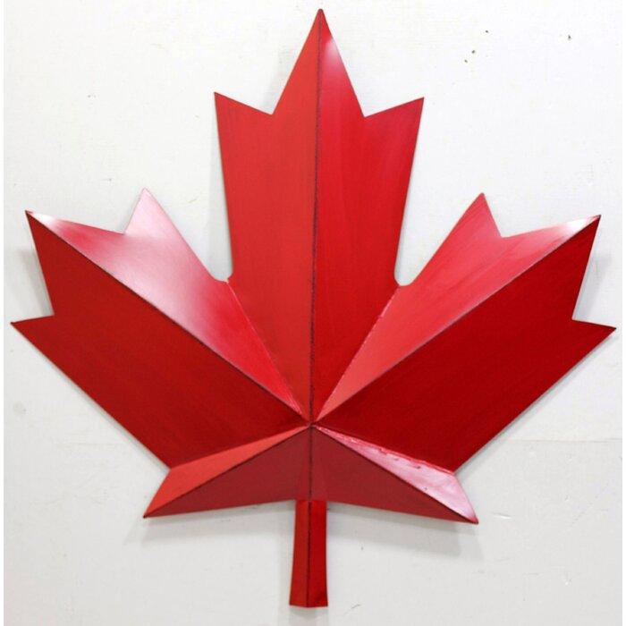 Winston Porter Metal Red Maple Leaf Wall Decor & Reviews | Wayfair.ca