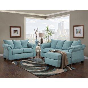 Tack Sensations Capri 2 Piece Living Room Set by Red Barrel Studio