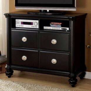 Erazo Wooden Media 4 Drawer Standard Dresser