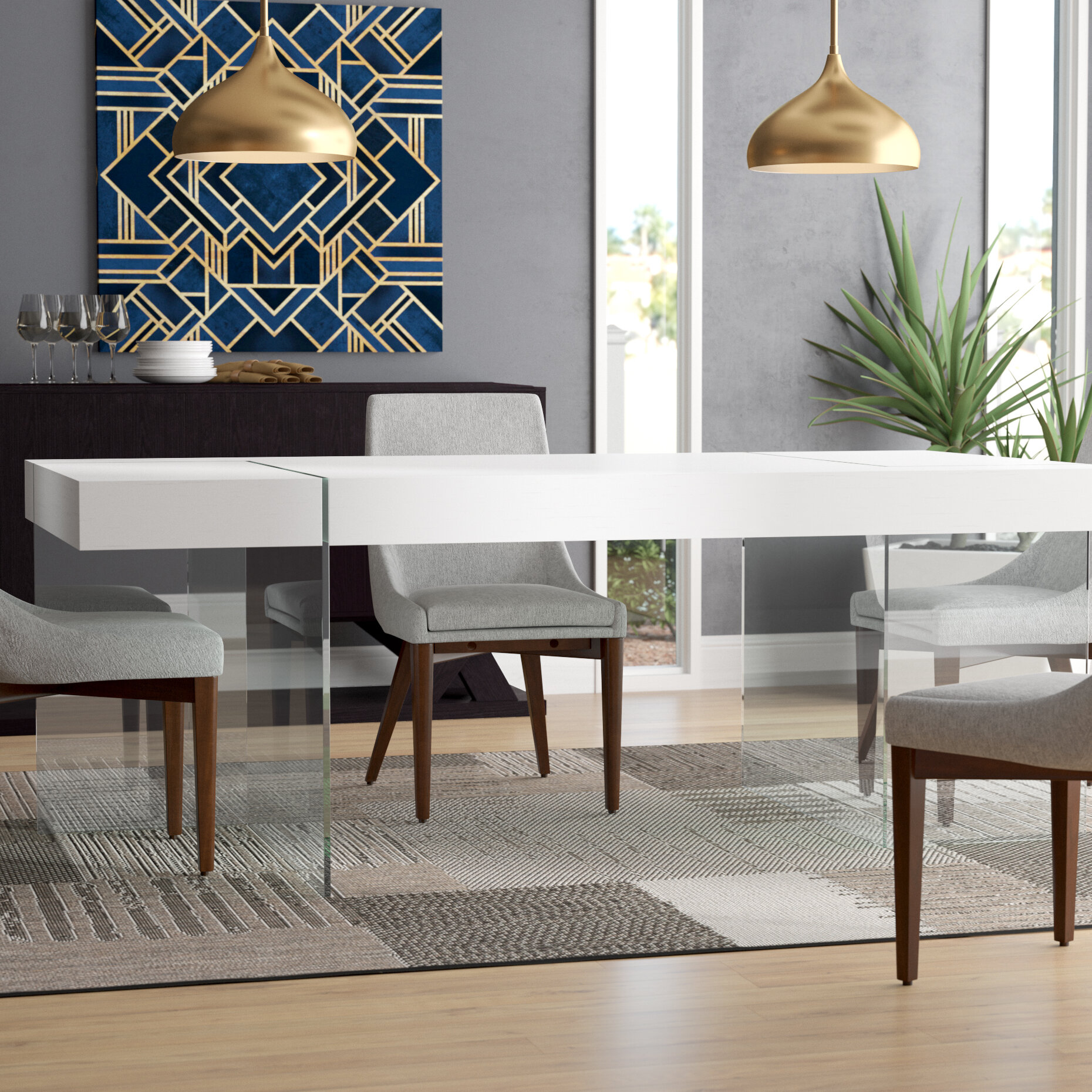 Wade logan domenica modern dining table reviews wayfair