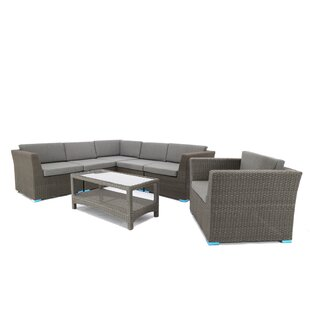 7 Piece Sofa Set with Cushions