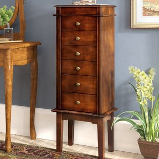 Maplewood Six Drawer Jewelry Armoire by Three Posts