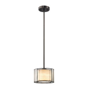 Griffith 1-Light Drum Pendant by House of Hampton