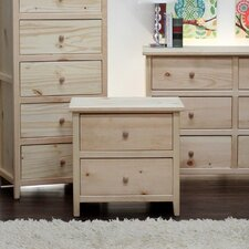 Little Neck 2 Drawer Nightstand by Gothic Furniture