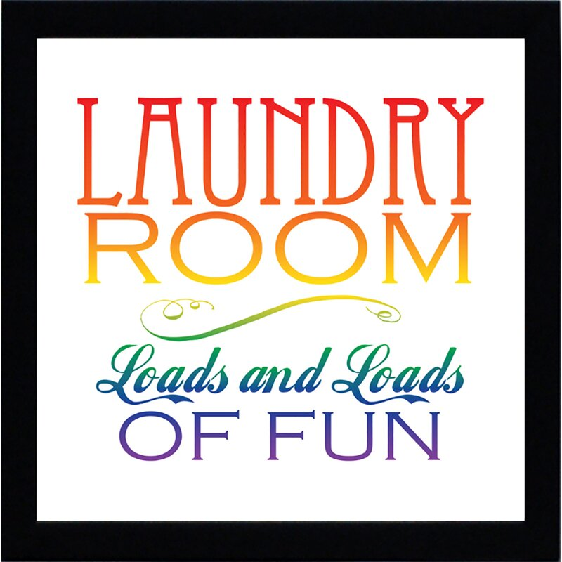 'Laundry Room' Framed Textual Art
