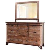 Rizzuto 6 Drawer Combo Dresser by Loon Peak®