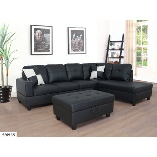 Wrought Studio Dora Sectional with Ottoman