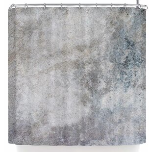 Susan Sanders Gray Urban Concrete. Single Shower Curtain