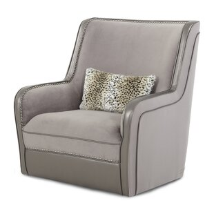 Michael Amini Hollywood Swank Swivel Upholstered Armchair