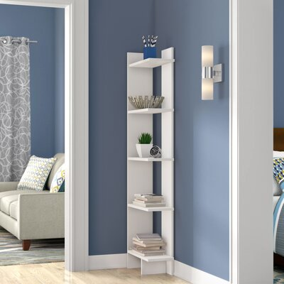 Zipcode Design Lynnfield Corner Bookcase Color (Body/Front): White