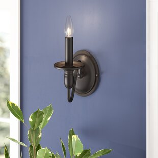 Savings Olivier 1-Light Candle Wall Light By Charlton Home