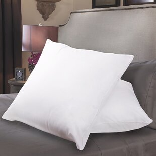 Sweet Home Collection Square Polyfill European Pillow (Set of 2)