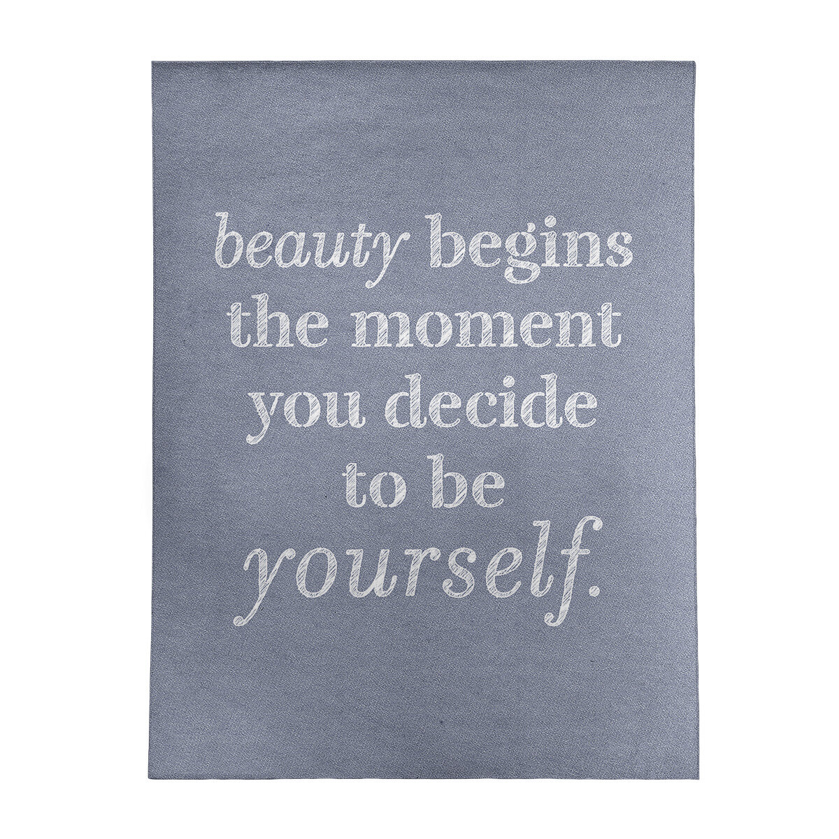 East Urban Home Handwritten True Beauty Quote Poly Chenille Rug Wayfair