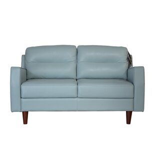 Latitude Run Chirag Leather Loveseat