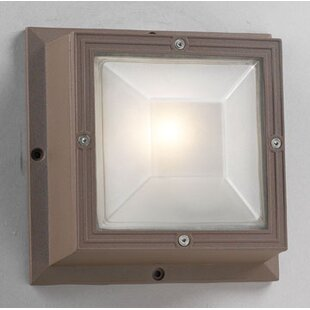 Winston Porter Harlingen 1-Light Outdoor Flush Mount