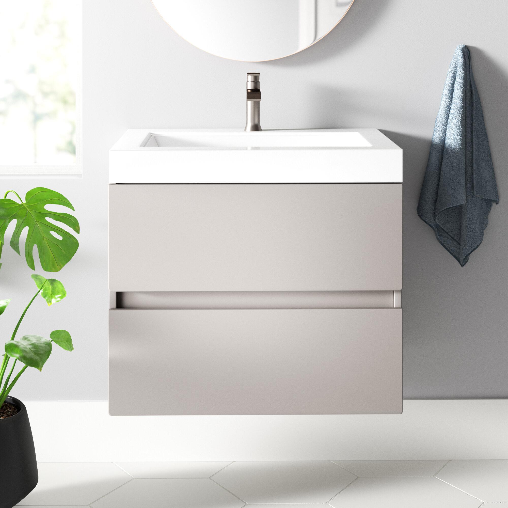 Janice 24 5 Wall Mounted Single Bathroom Vanity Reviews Allmodern