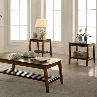 Gracie Oaks Morristown Transitional 3 Piece Coffee Table Set