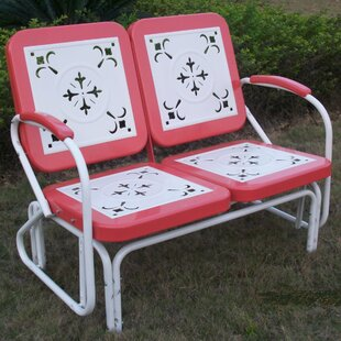 Marvelous Isabela Metal Retro Glider Bench Caraccident5 Cool Chair Designs And Ideas Caraccident5Info