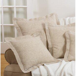 Kitt Hemstitch Down Filled Throw Pillow