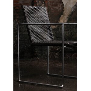 Justis Stainless Steel Arm Chair (Set of 4) by Brayden Studio