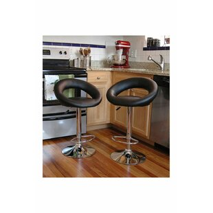 Giancarlo Adjustable Height Swivel Bar Stool (Set of 2)