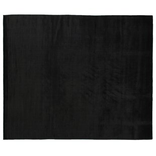 Dove Hand Woven Silk Black Area Rug By Exquisite Rugs