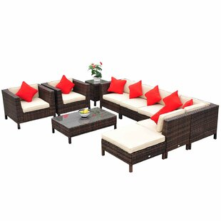 Greenwich 9 Piece Sectional Seating Group with Cushions by Brayden Studio